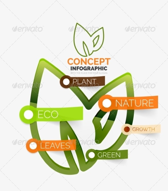Eco Leaves Infographic Concept - Web Technology