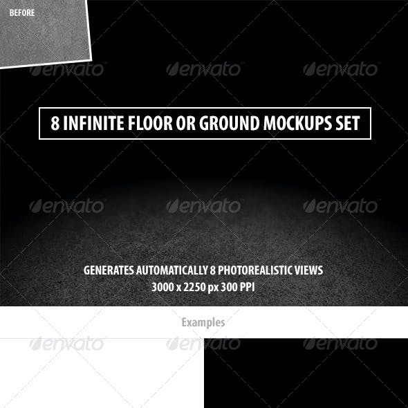8 Infinite Floor or Ground Mockups Set