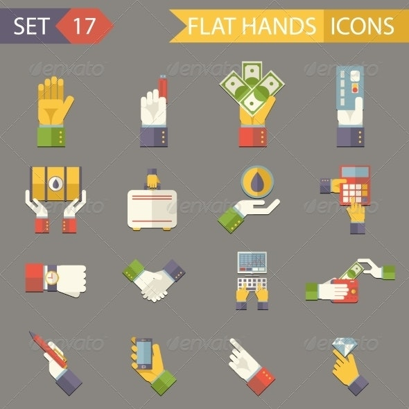 Retro Business Hands Symbols Finance Accessories I - Concepts Business