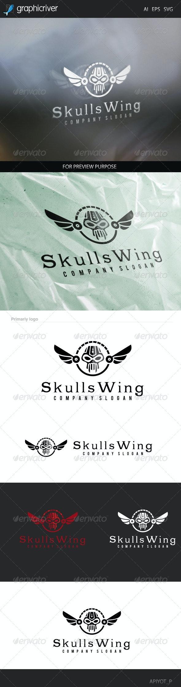 Skull Wing Logo - Symbols Logo Templates