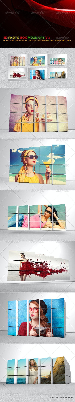 3D Photo Box Mockups V-3 - Miscellaneous Displays