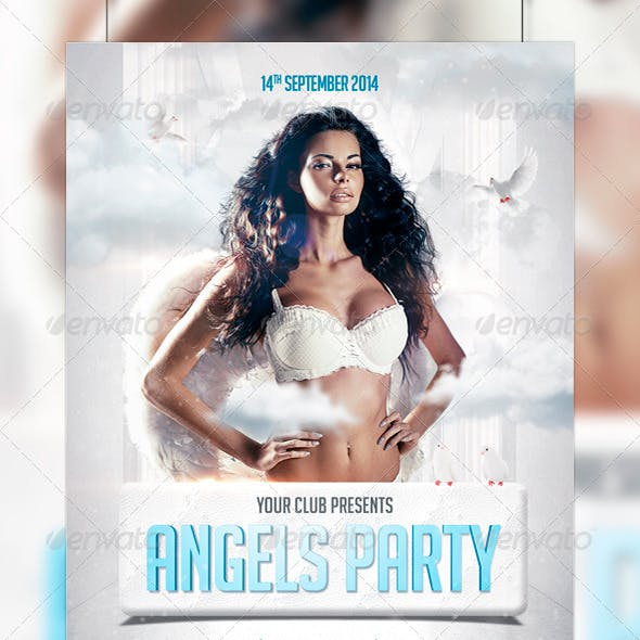 Angels Party Flyer Template