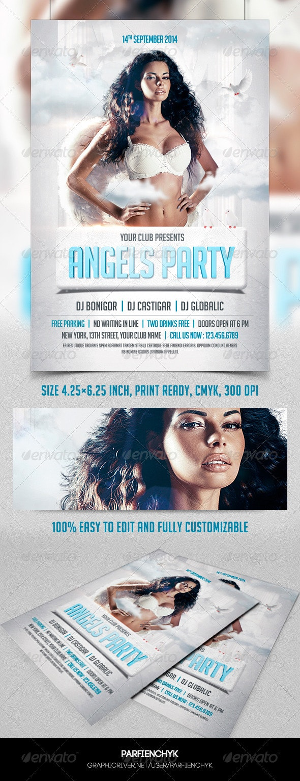 Angels Party Flyer Template - Clubs & Parties Events