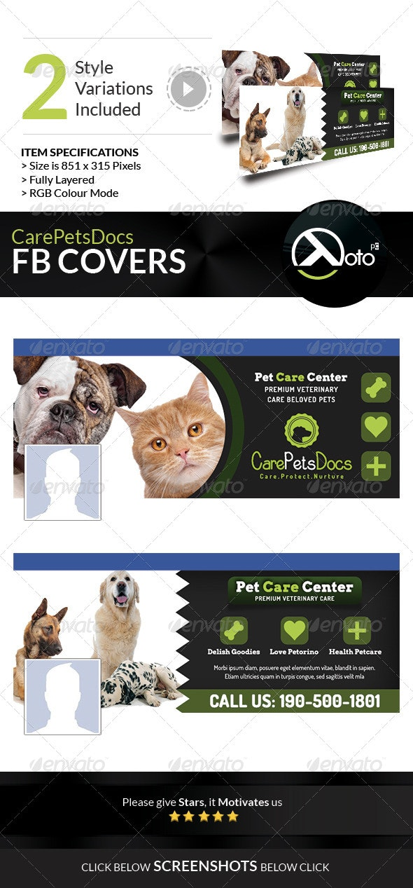 Care Pets Docs FB Banners - Facebook Timeline Covers Social Media