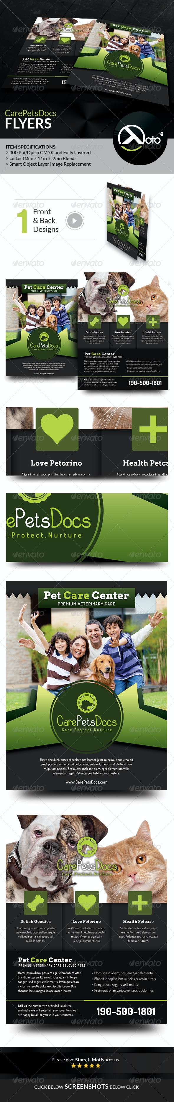 Care Pets Docs Veterinary Flyers - Flyers Print Templates