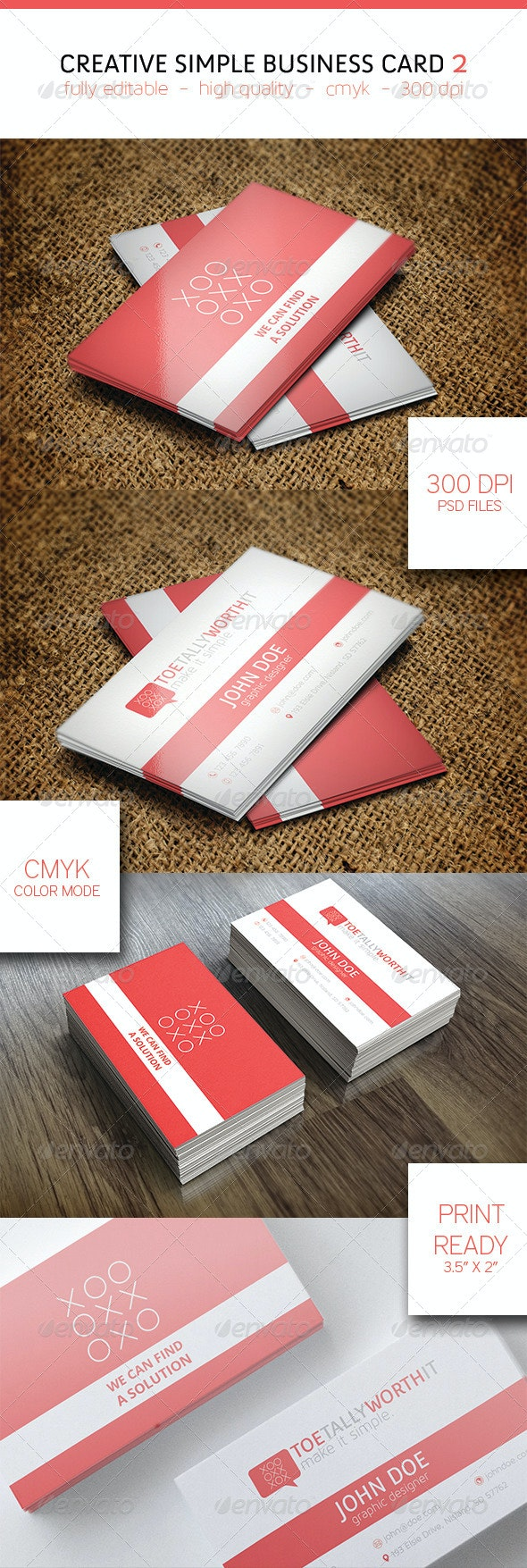 Creative Simple Business Card 2 - Business Cards Print Templates