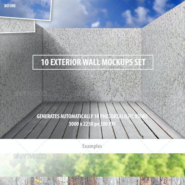 10 Exterior Wall Mockups Set