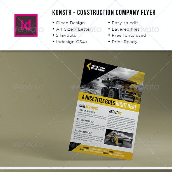 Construction Company A4 / Letter Flyer
