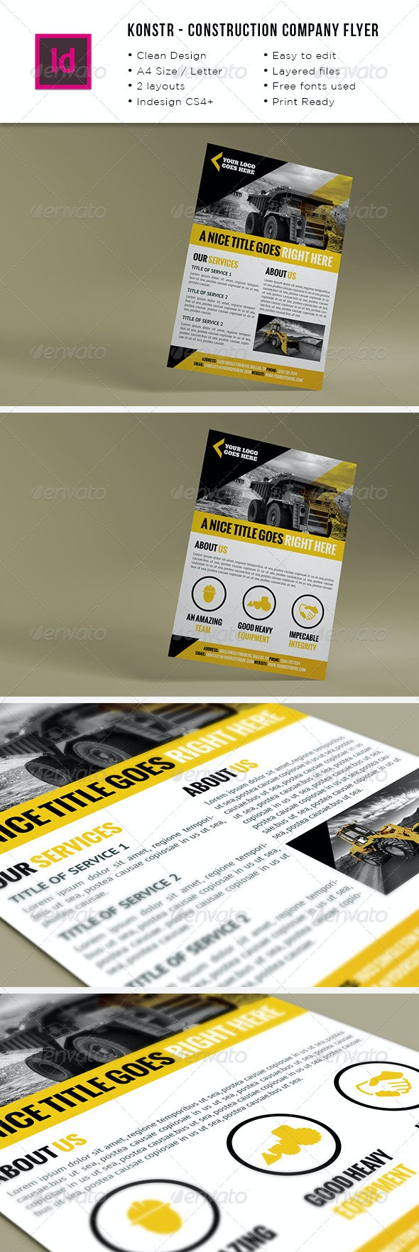 Construction Company A4 / Letter Flyer - Corporate Flyers