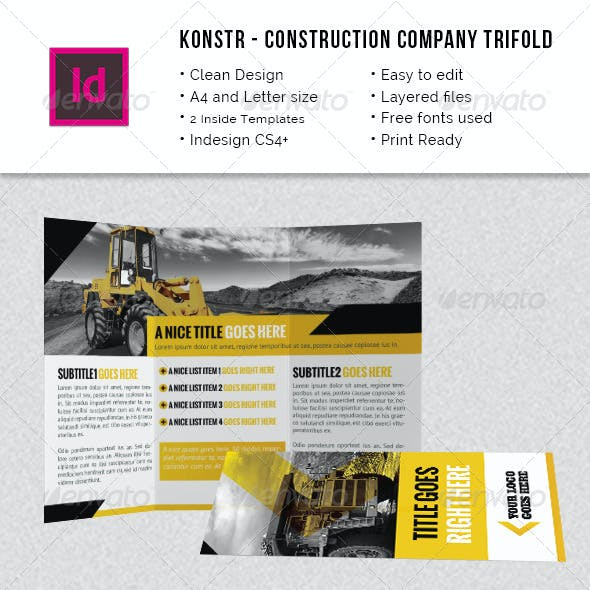 Construction Company A4 / Letter Trifold