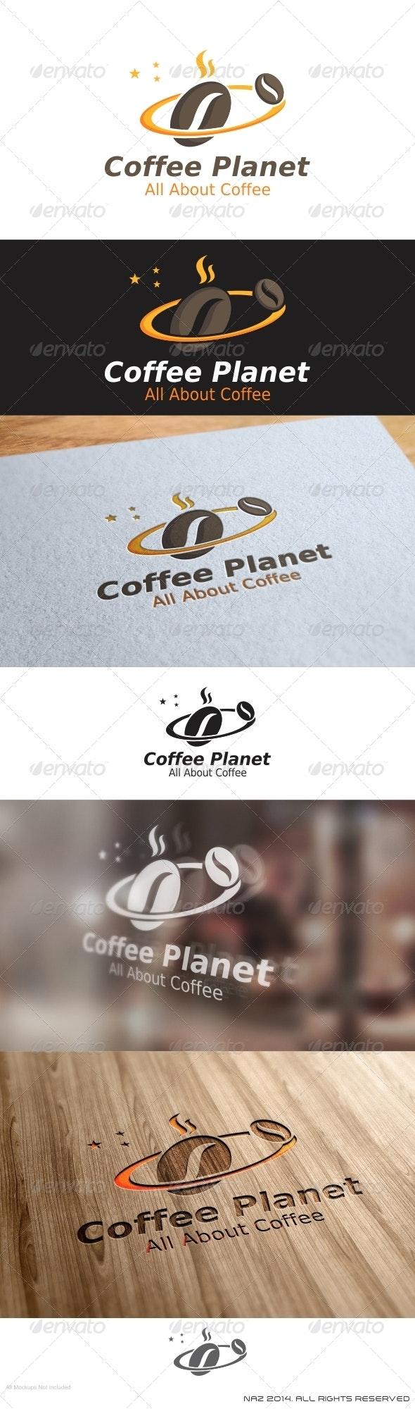 Coffee Planet Logo - Objects Logo Templates