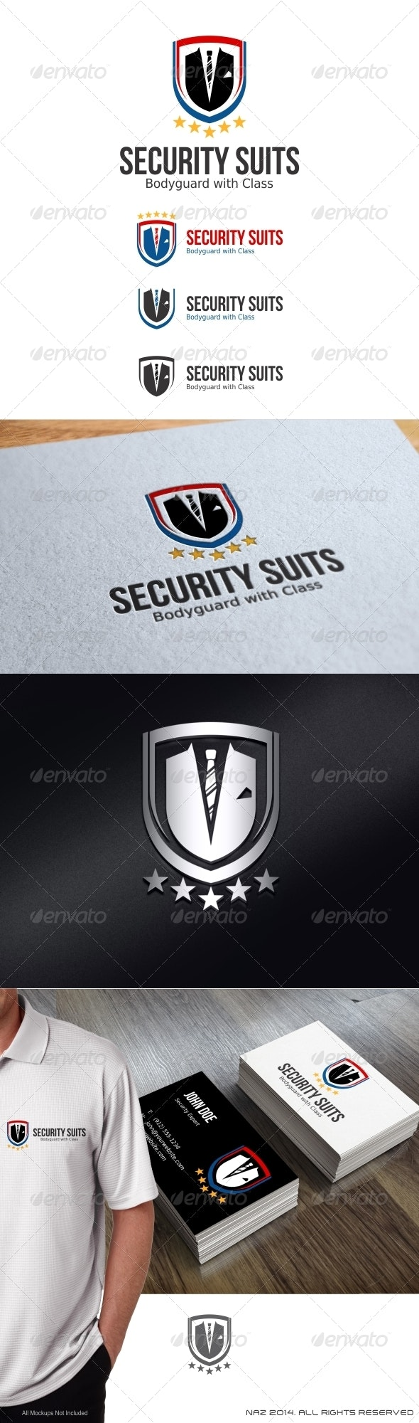 Security Suits Logo - Objects Logo Templates