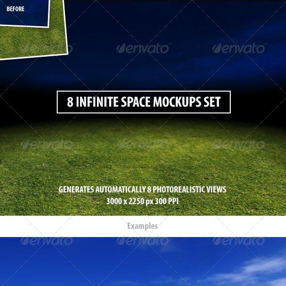 8 Infinite Space Mockups Set