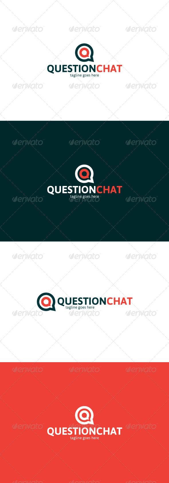 Question Chat Logo — Letter Q - Letters Logo Templates