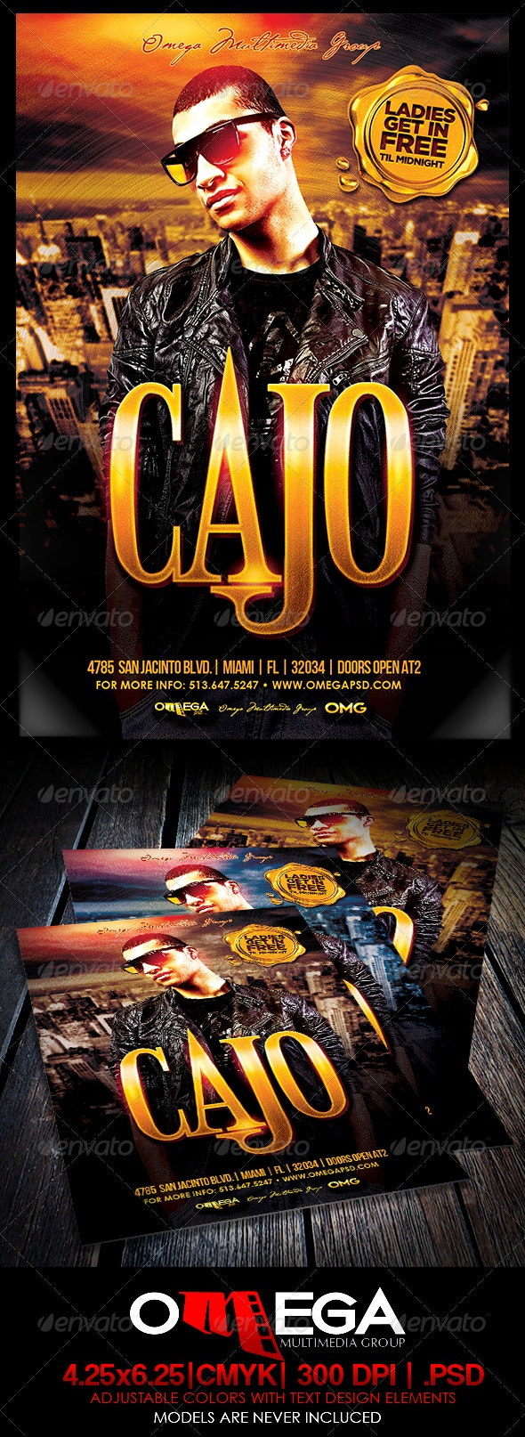 Special Guest Cajo - Events Flyers