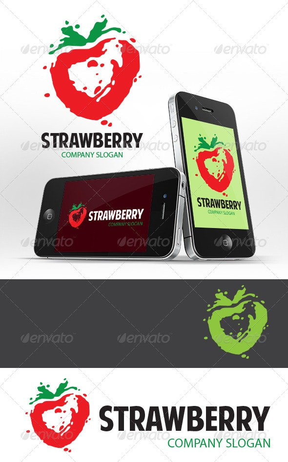 Strawberry Logo Template - Nature Logo Templates