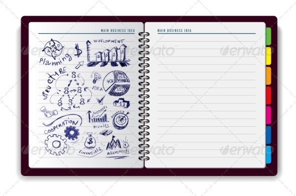 Creative Notebook Idea  - Concepts Business