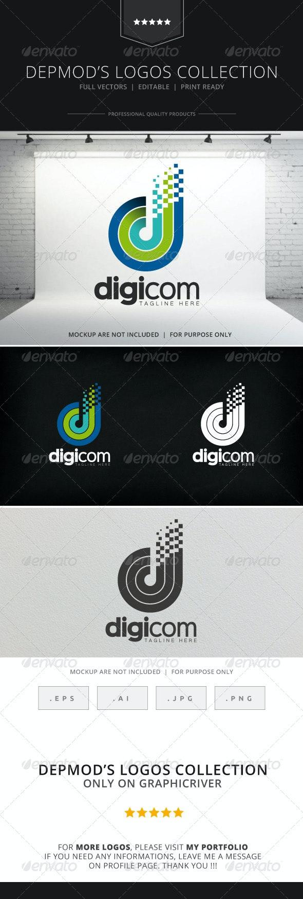 Digicom Logo - Letters Logo Templates