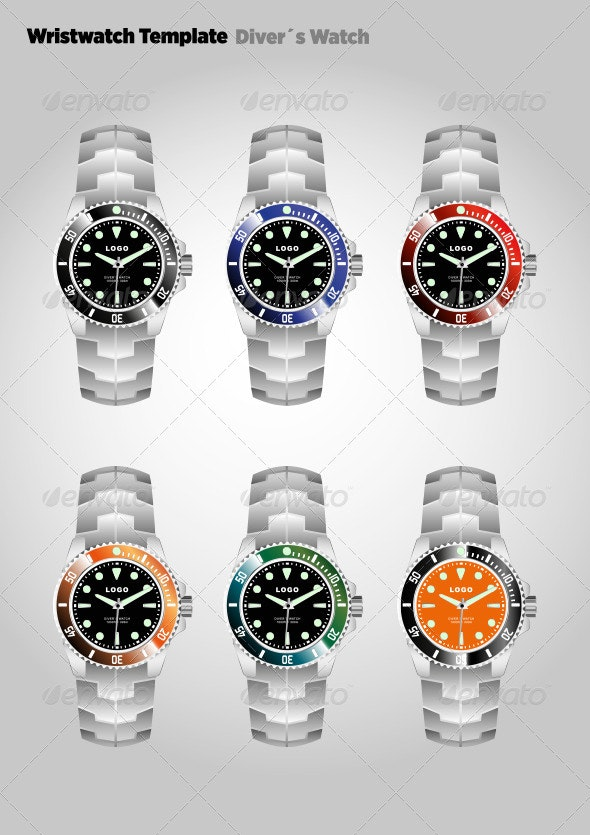 Diver´s Wristwatch with Bracelet - Man-made Objects Objects