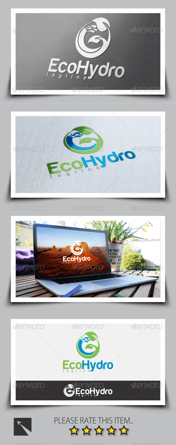Hydro Eco Logo Template - Nature Logo Templates