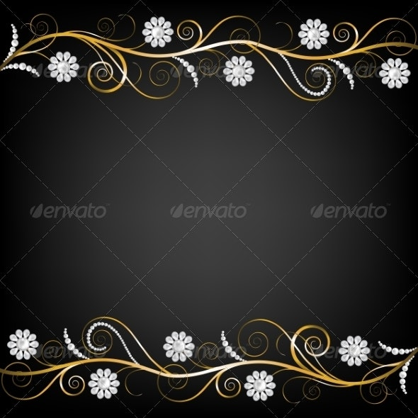 Border with Pearls - Backgrounds Decorative