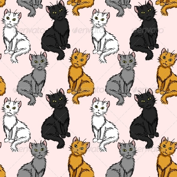 Sitting Cats - Animals Characters