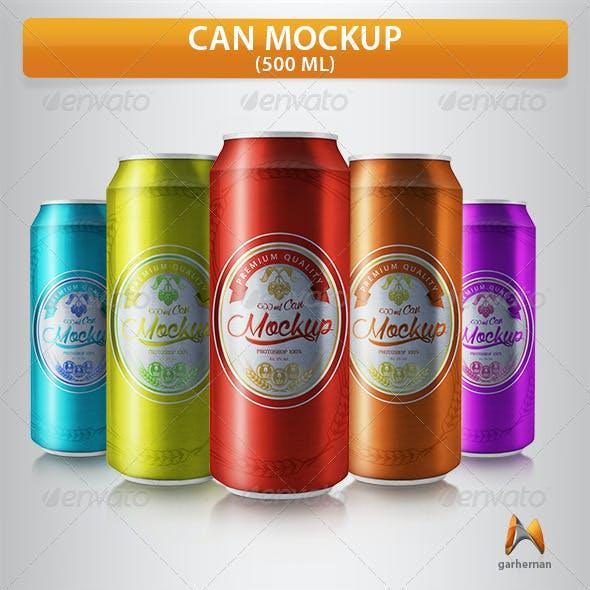 Can Mockup 500 ml
