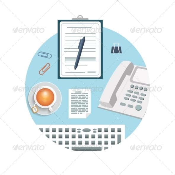 Phone with Clipboard and Pencil - Concepts Business