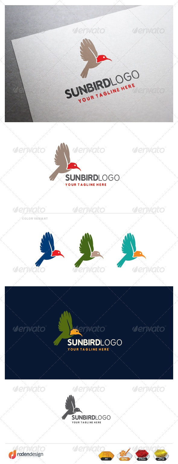 Sun Bird Logo - Animals Logo Templates