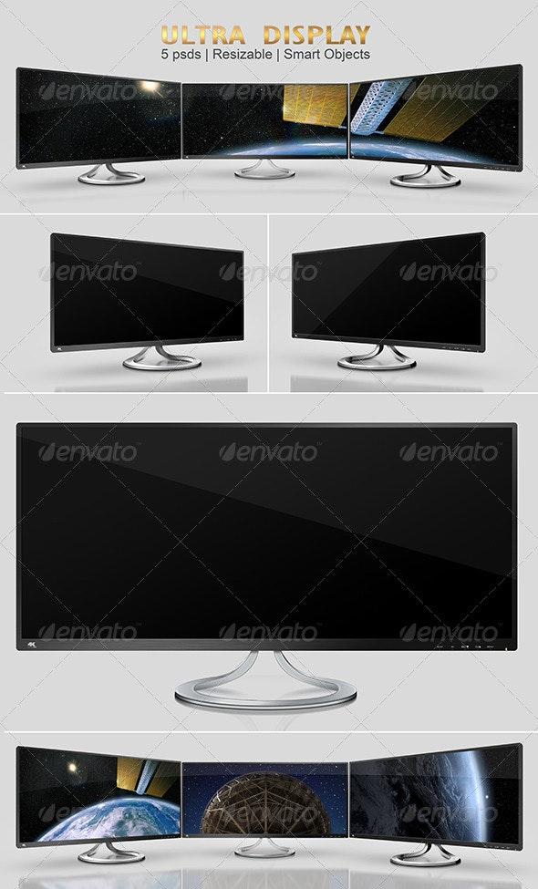 Ultra Wide Display Mock-Ups - Monitors Displays