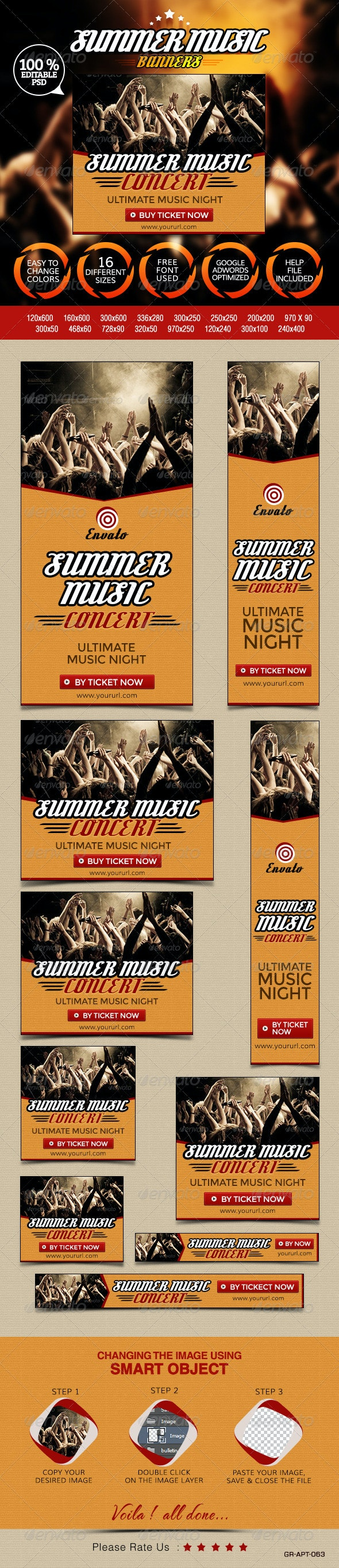 Concert Banners - Banners & Ads Web Elements
