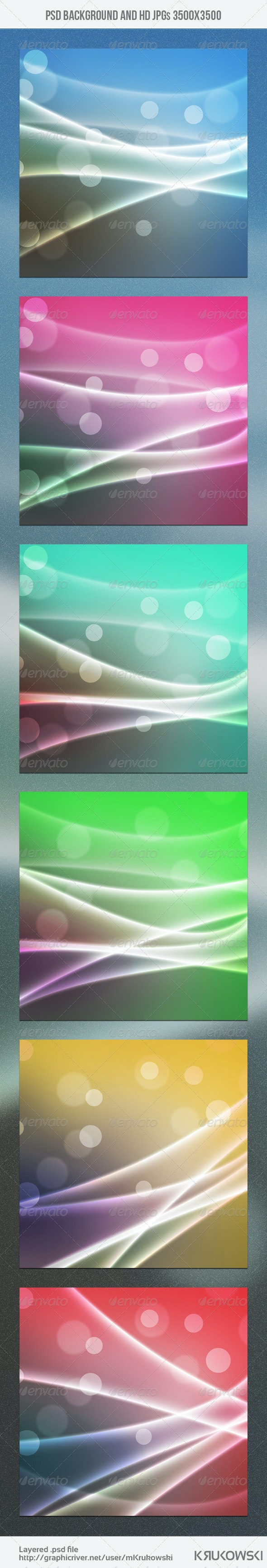 Light Waves Background - Abstract Backgrounds