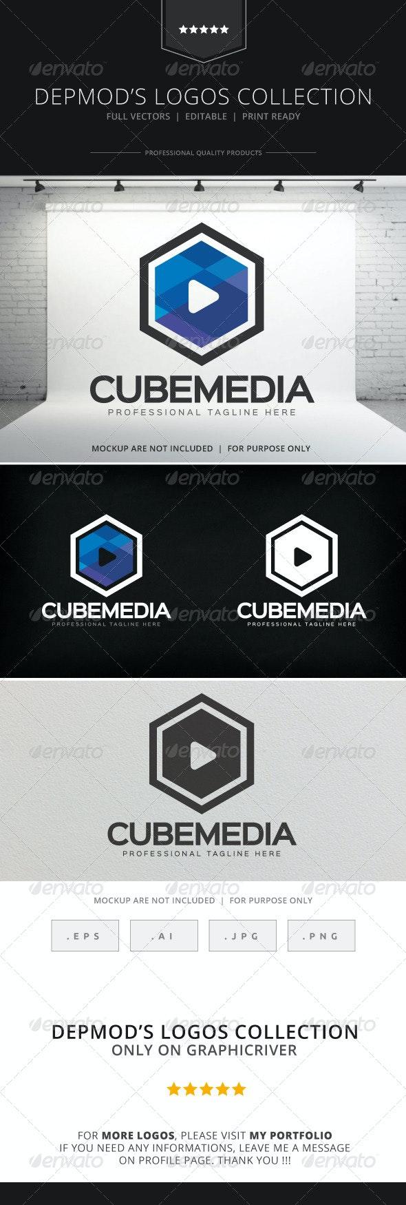 Cube Media Logo - Symbols Logo Templates