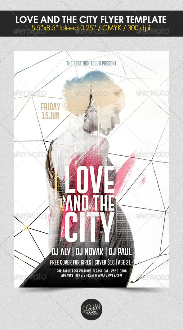 Love and the City Flyer Template - Clubs & Parties Events