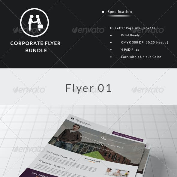 Corporate Flyer Bundle (3 in 1)