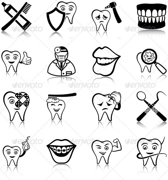 Dental Care - Miscellaneous Icons