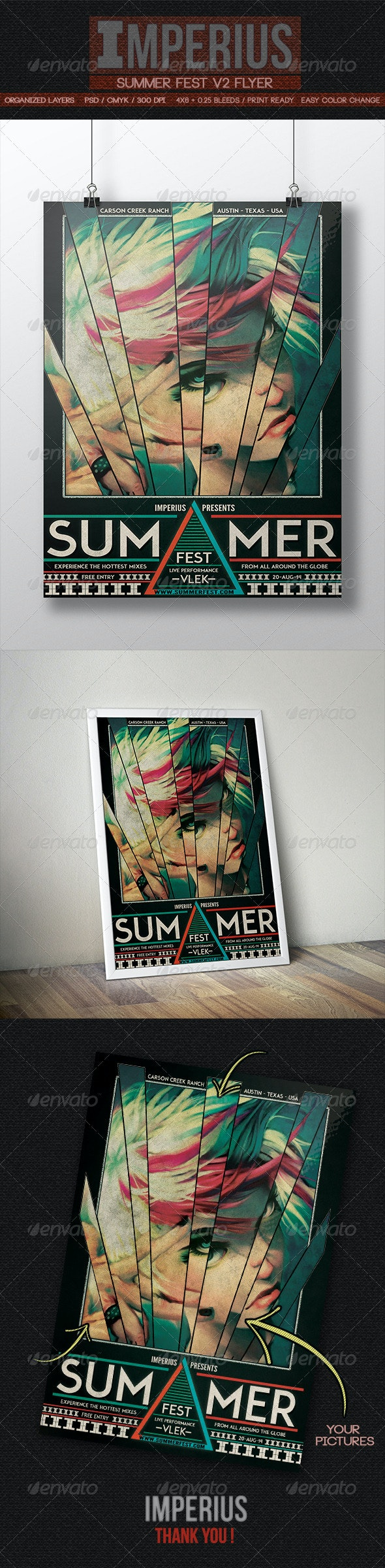 Summer Fest V2 - Flyers Print Templates
