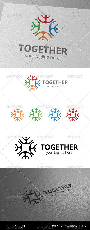 Social People Community Logo - Humans Logo Templates