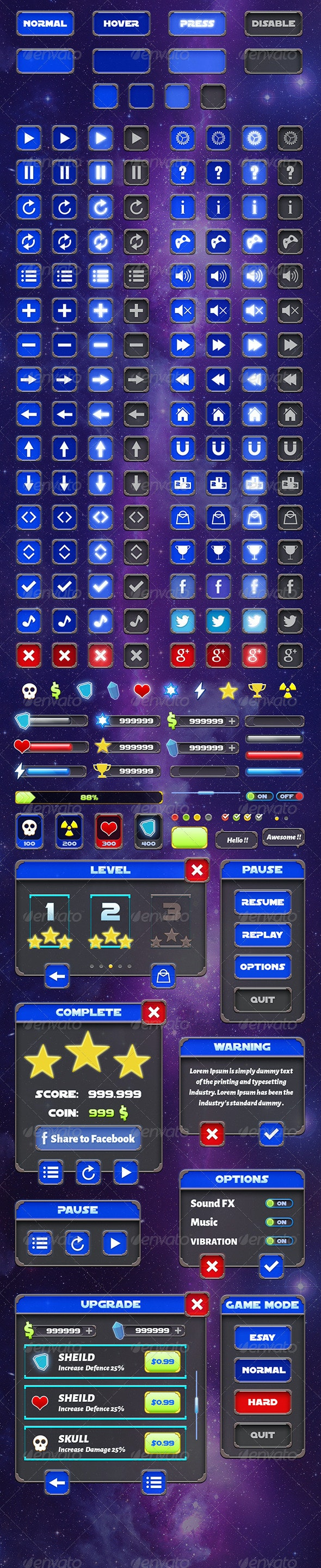 Mobile Game Gui - Vol 5 - User Interfaces Web Elements