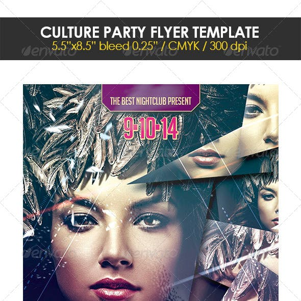 Culture Party Flyer Template