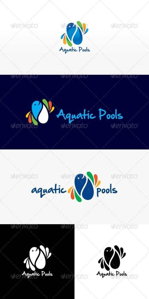 Aquatic Pools Stock Logo Template - Nature Logo Templates