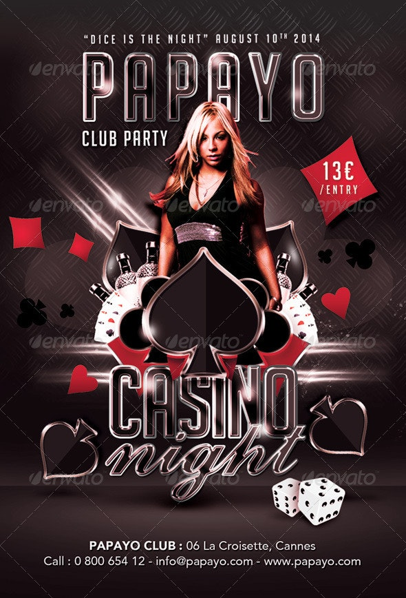 Dice Is Casino Night Club Party - Events Flyers
