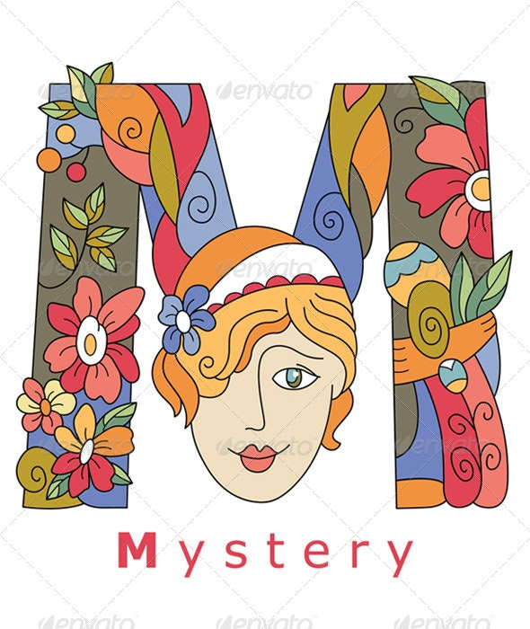 Letter M Mystery - Decorative Symbols Decorative