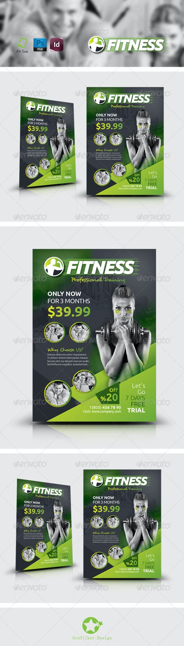 Fitness Salon Flyer Templates - Corporate Flyers