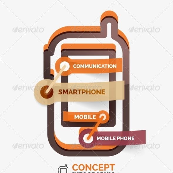 Vector Smartphone Icon Infographic Concept
