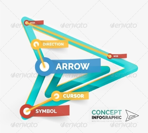 Vector Arrow Icon Infographic Concept - Web Technology