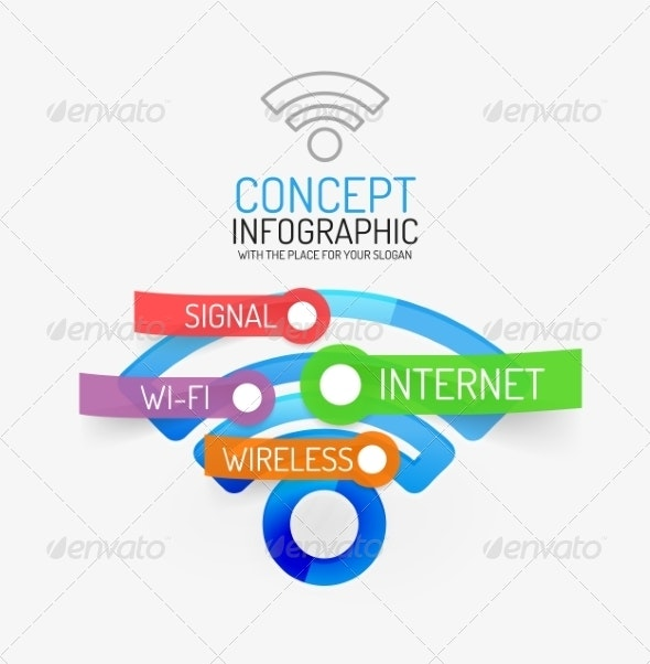 Vector Wifi Infographic Concept - Web Technology