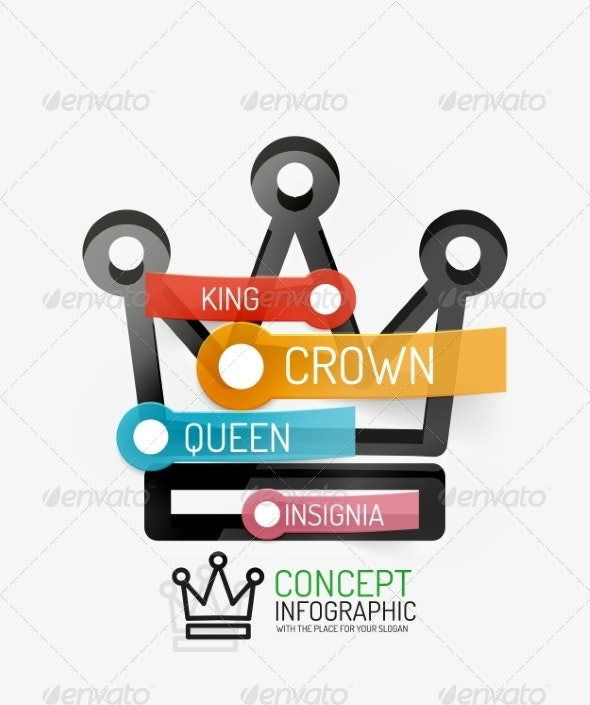 Vector Crown Infographics - Web Technology