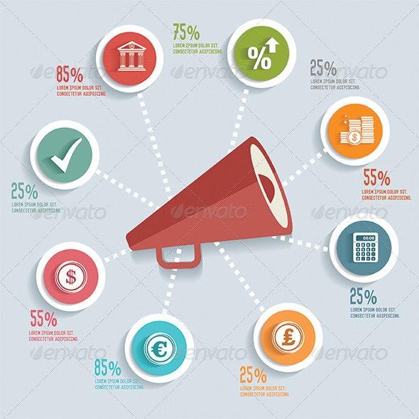 Megaphone Infographic Design - Infographics