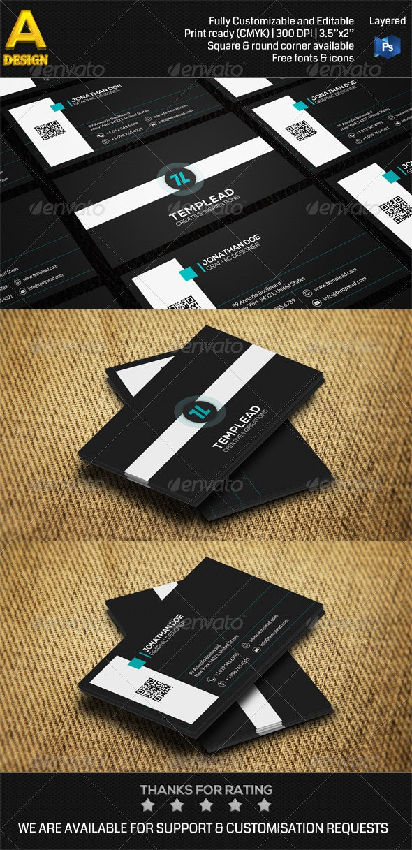 Modern Corporate Business Card AN0464 - Corporate Business Cards